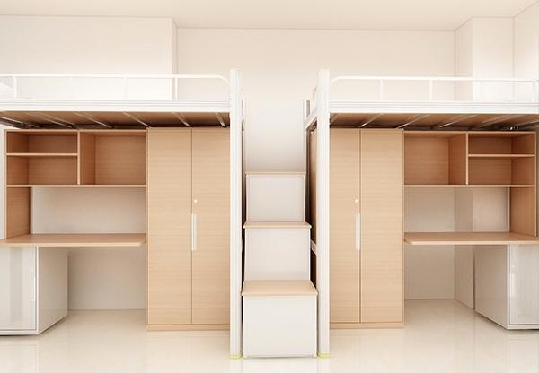 学校家具-钢木二连体